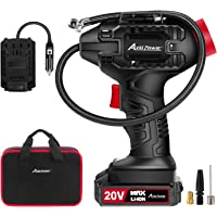 $62 » AVID POWER Tire Inflator Air Compressor, 20V Cordless Car Tire Pump with Rechargeable Li-ion Battery, 12V Car Power Adapter, Digital Pressure…