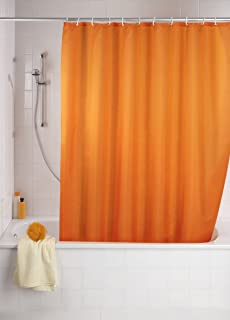 Wenko Anti Mould Shower Curtain Orange