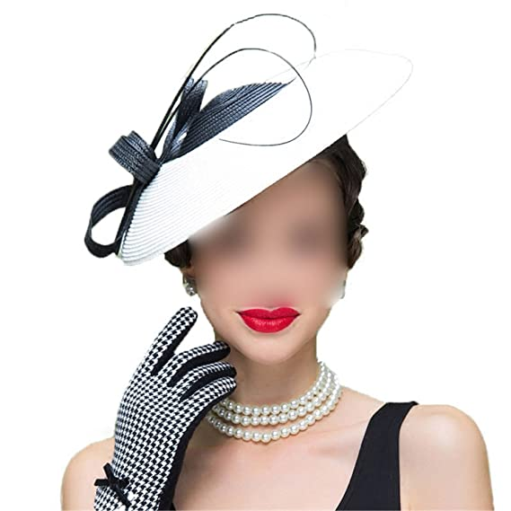 d4ee8ad143366 Fascinators Patchwork Pillbox Hat For Weddings Dress Women Straw Fedora  Vintage Ladies Hats  Amazon.co.uk  Clothing