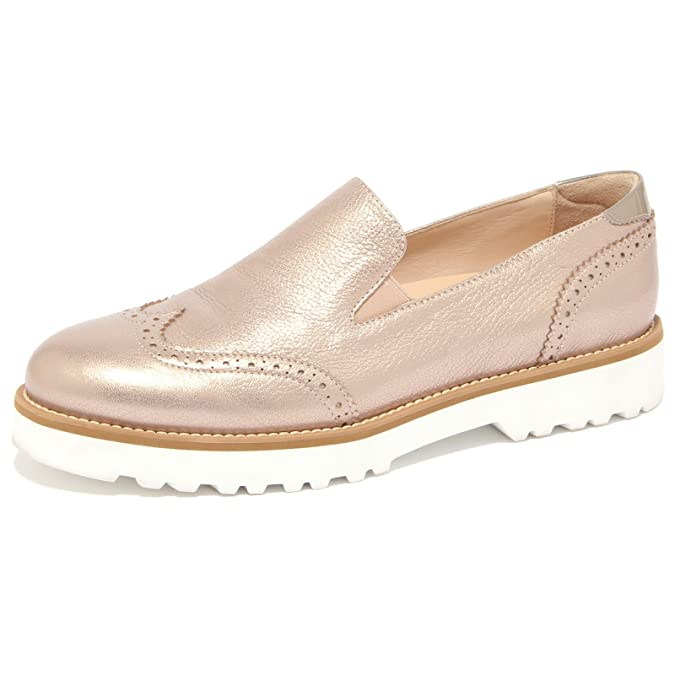 1507Q mocassino HOGAN donna ROUTE PANTOFOLA bronzo scarpa donna HOGAN loafer woman 17b4bf