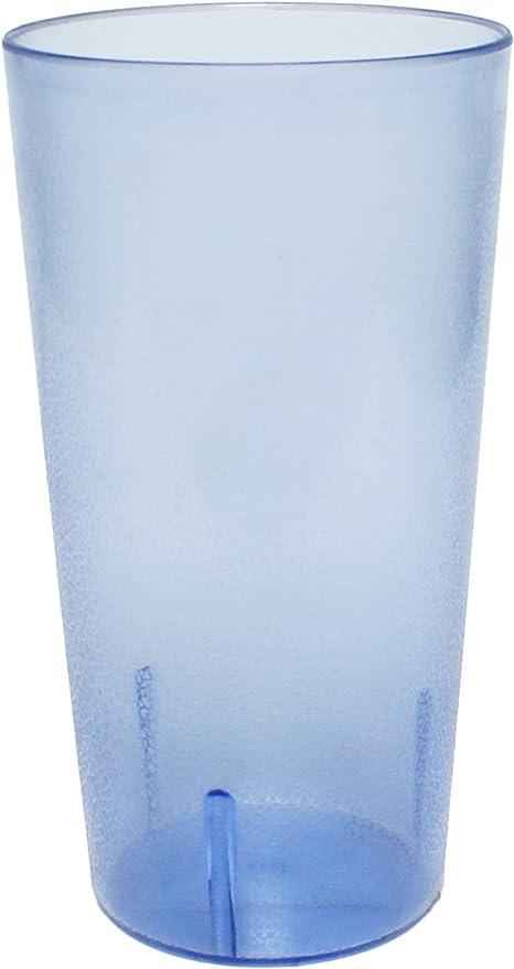 Amazon Com 32 Oz Ounce Restaurant Tumbler Beverage Cup Stackable Cups Break Resistant Commerical Plastic Set Of 4 Blue Tumblers Water Glasses