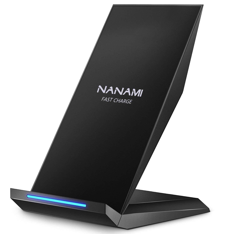 NANAMI Cargador Inalámbrico Rápido, Qi Inalámbrica Carga Rápida 10W y Estándar 5W para iPhone 11/11 Pro/XS/XS MAX/XR/X/ 8 Plus/ 8,Wireless Quick Charger para Samsung Galaxy S10 S9 S8 Plus S8 S7 Note8
