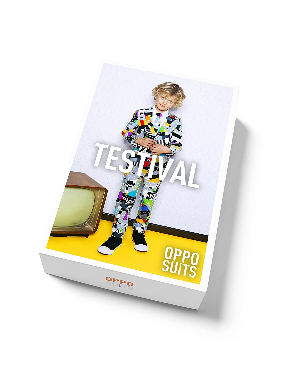 OppoSuits Crazy Suits for Boys in Different Prints Comes with Jacket Pants and Tie in Funny Designs