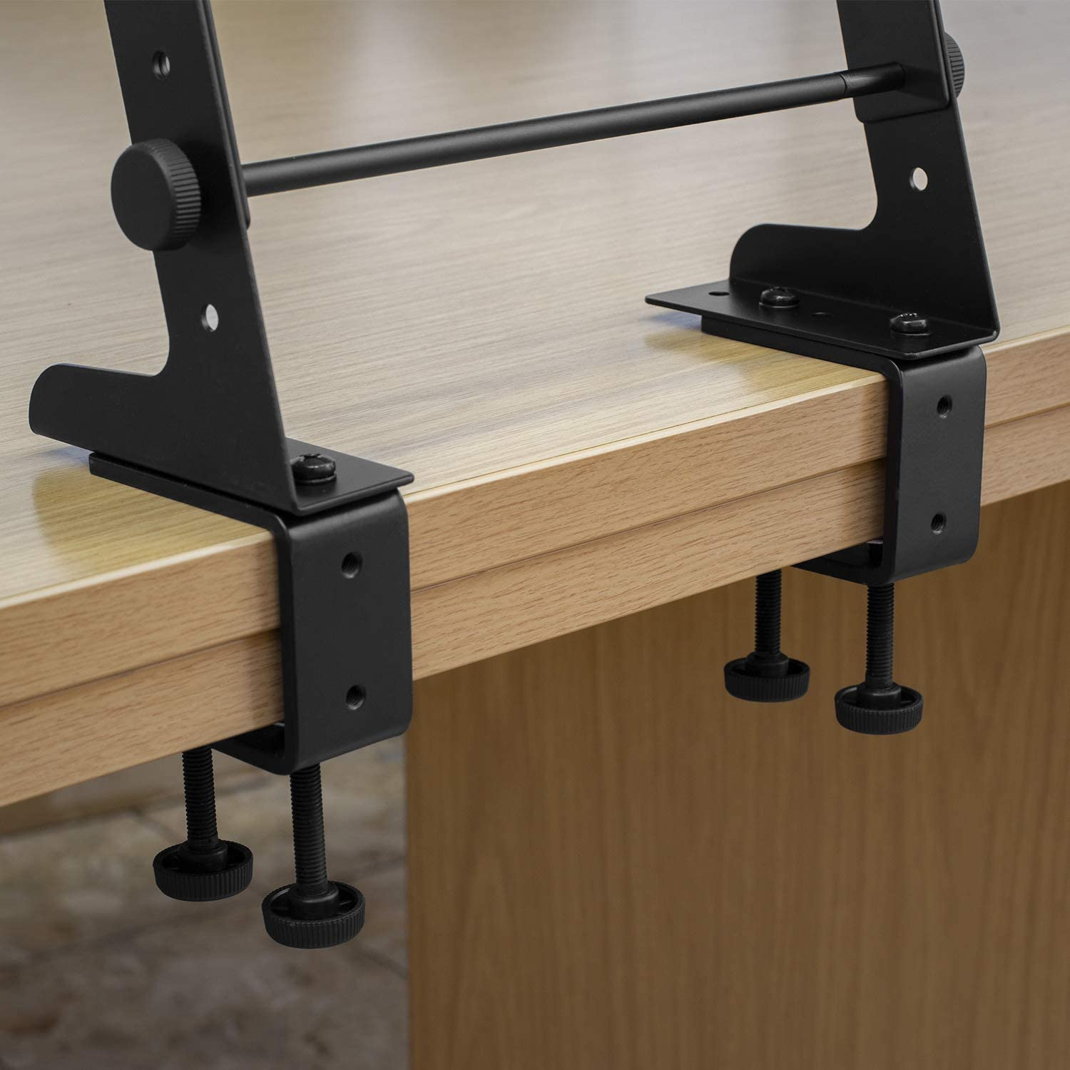 Tiger Laptop Stand//DJ Controller Stand with Shelf and Desktop Clamps