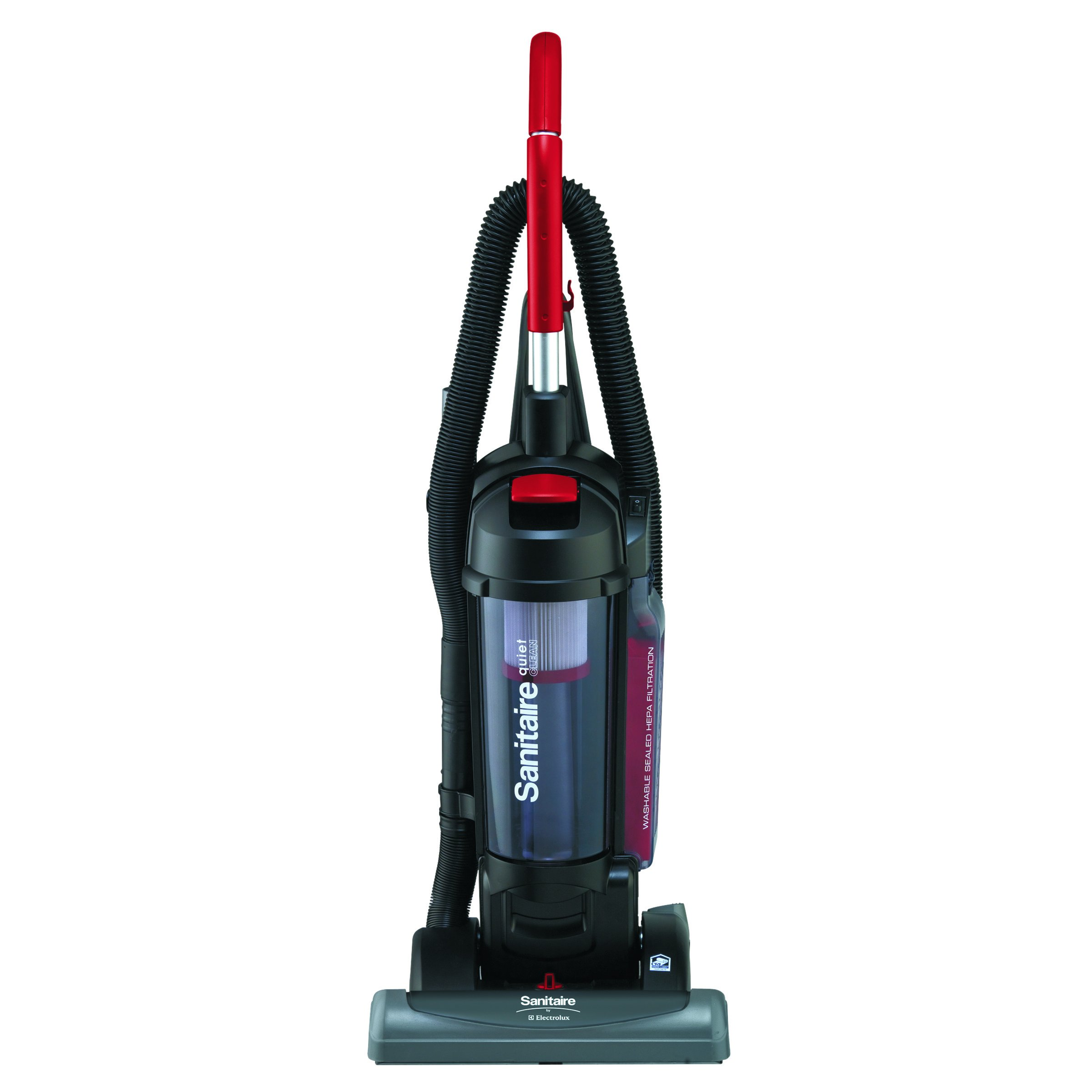 Sanitaire SC5845B Bagless/Cyclonic Vacuum with Sealed HEPA Filtration, Red