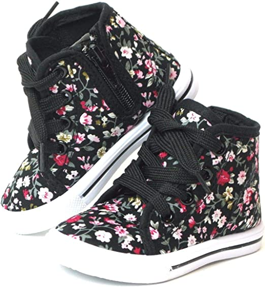 Baby Toddler Girls Canvas High Top Lace