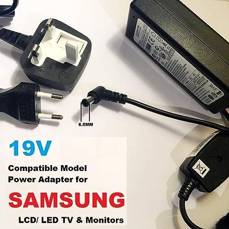 Adaptador de fuente de alimentación de 19 V para Samsung LED/LCD TV, compatible con Samsung UA32J4303AK BN44-00838A UN32J400D UN32J400DAF Smart TV, 2.53A-3.17A, 48W-59W modelos, LOT REF 69: Amazon.es: Informática