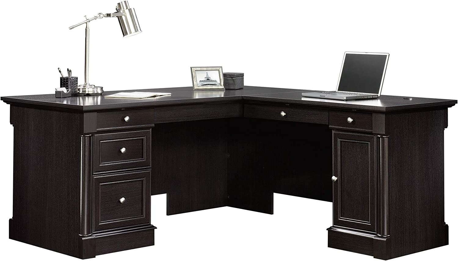 Sauder Palladia L-Desk, Wind Oak finish
