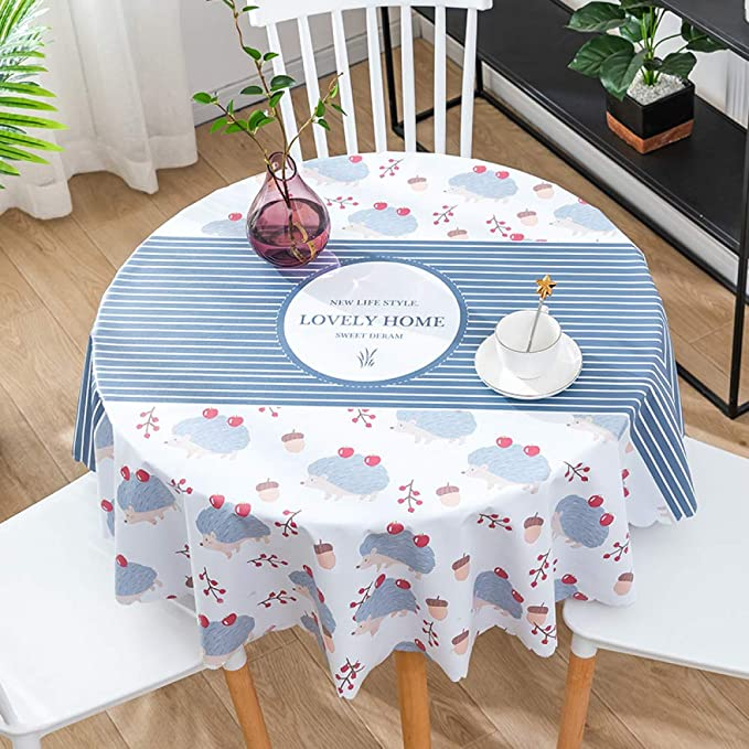 CAREXY Mantel Redondo PVC,plastico Vinilo Antimanchas Impermeable Resistentes Al Calor Mantel De Hule para Comedor Jardín Salón Banquete,I-100cm: Amazon.es: Hogar