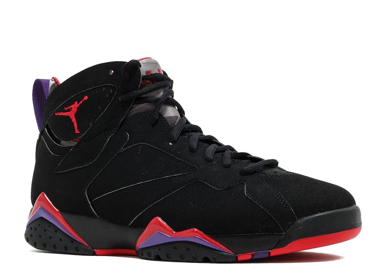 Nike Herren Air Jordan 7 Retro Turnschuhe, Schwarz, 48.5 EU  10|Black, Tr Rd-drk Chrcl-clb Prpl