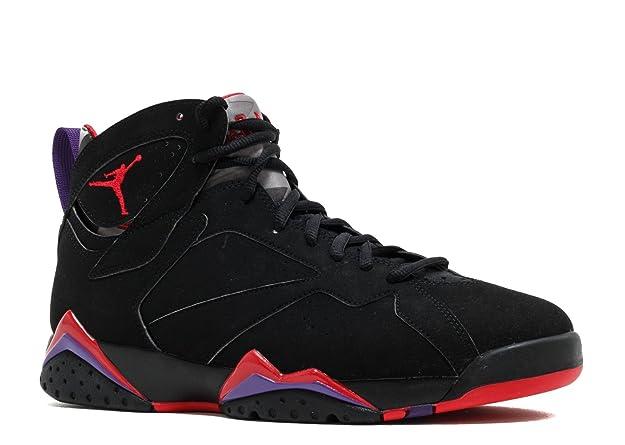 reputable site b4f83 c5053 Amazon.com   Jordan Air 7 VII Retro Raptors Men s Basketball Shoes  Black True Red Dk. Charcoal Club Purple 304775-018 (12)   Basketball