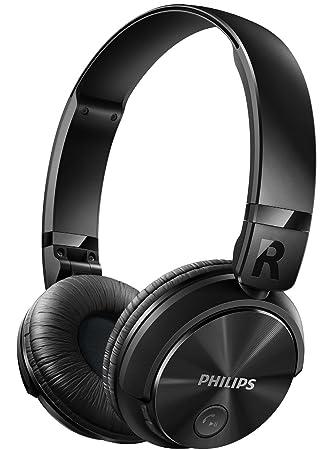 1f751342874 Philips SHB3060BK - Auriculares Bluetooth inalámbricos con sonido potente (manos  libres, totalmente plegable) color negro: Amazon.es: Electrónica