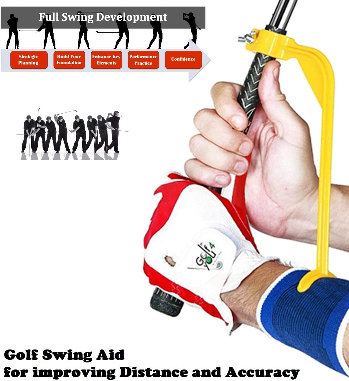 Golf Swing Training Aid | Golf Doctor Wrist Hinge Trainer - Develop A More Consistent Swing Plane - Take Your Golf Game to The Next Level