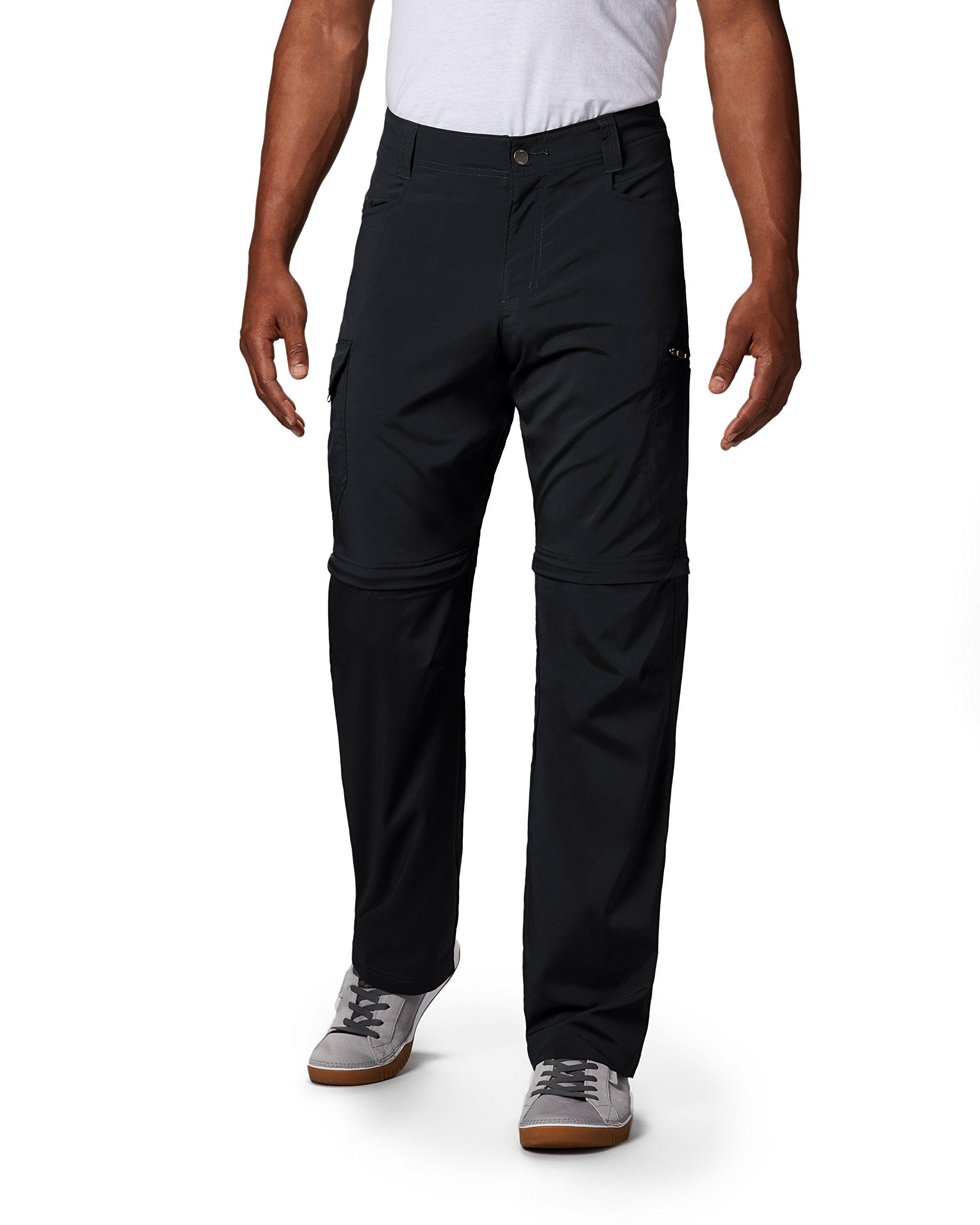 Columbia Men's Standard Silver Ridge Stretch Convertible Pant, Black, 32 x 32 by Columbia