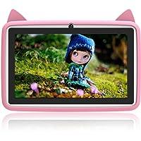 DUODUOGO® Tabletas para niños con pantalla multitáctil IPS de 7 pulgadas, ROM de 2GB RAM 32GB, Tablet PC quad-core con Android 6.0 desbloqueado, cámara dual Wi-Fi Bluetooth Edition Tablet G6 (Rosado2)