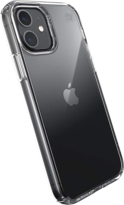 Speck Products Presidio Perfect-Clear iPhone 12, iPhone 12 Pro Case, Clear/Clear
