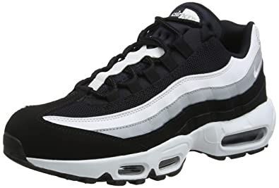 sports shoes 6cf6b f5ab7 Nike Men s Air Max 95 Essential Running Shoes, Multicolour (Black White Wolf