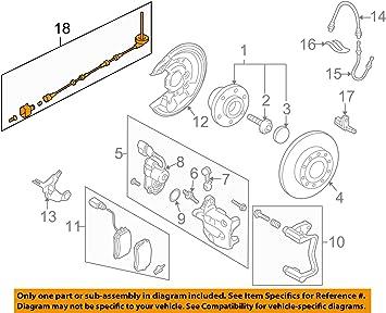 Genuine Volkswagen ABS Sensor Wire 3C0-927-904-AE