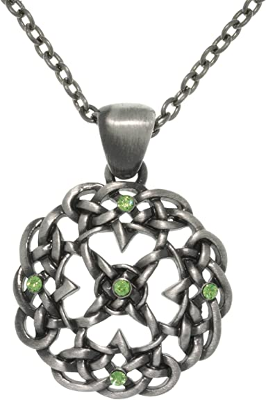 Jewelry Trends Pewter Celtic Knot Pendant with 23 Inch Chain Necklace