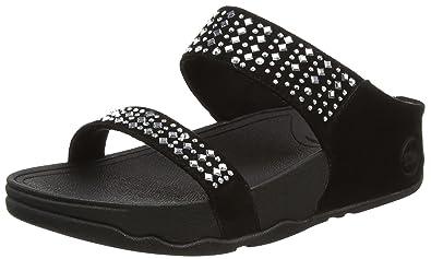 FitFlop Womens Novy Slide Flip Flop Black Size 50