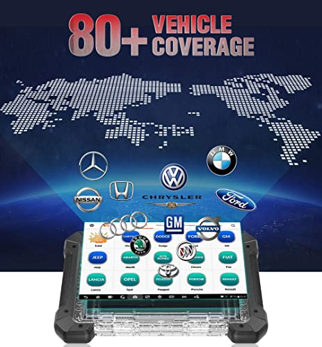 Autel MK908P works on 80+ vehicle coverage.
