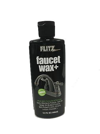 Amazon.com: Flitz Faucet Wax+ 3.4 oz Bottle: Health & Personal Care