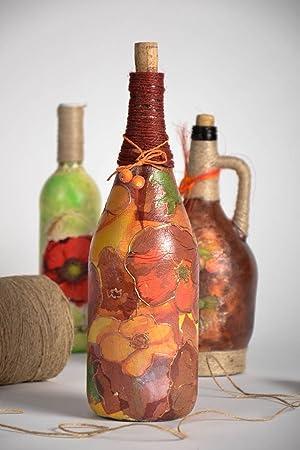 "Botella decorada ""Flores"""