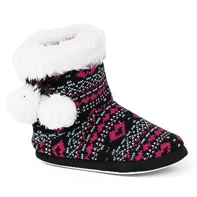 2c7224ecd61a Chatties Girls  Knit Slipper Boots (13-1 M US Little Kid
