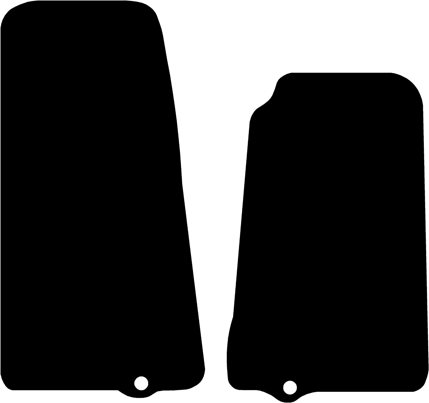 2006-2012 3mm Rubber Connected Essentials CEM300 Rubber Car Mats Round Clips for EOS Black with Black Trim