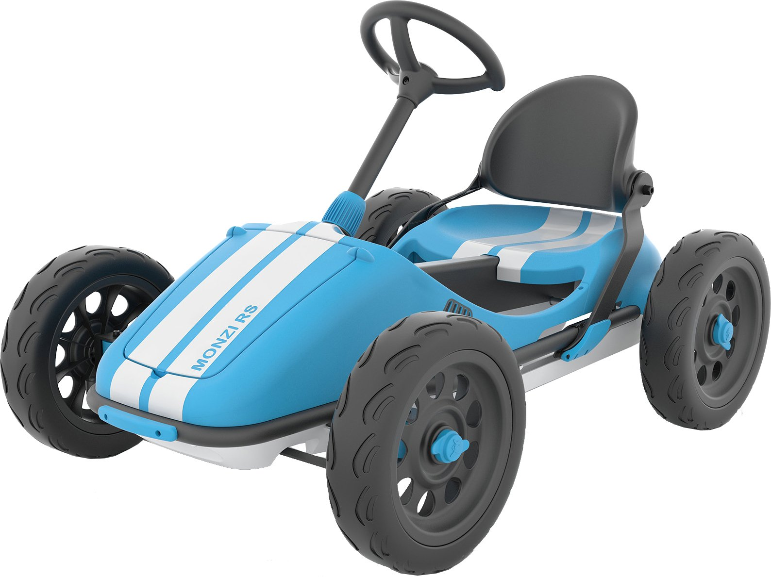 Chillafish Monzi RS Kids Foldable Pedal Go-Kart, with Airless RuberSkin Tires, Blue