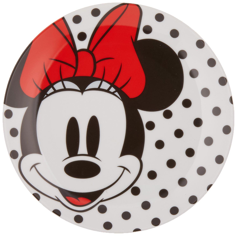 Vandor Disney Minnie Mouse 4 Piece 8 Inch Ceramic Salad Plate Set (89037) Accessory Consumer Accessories