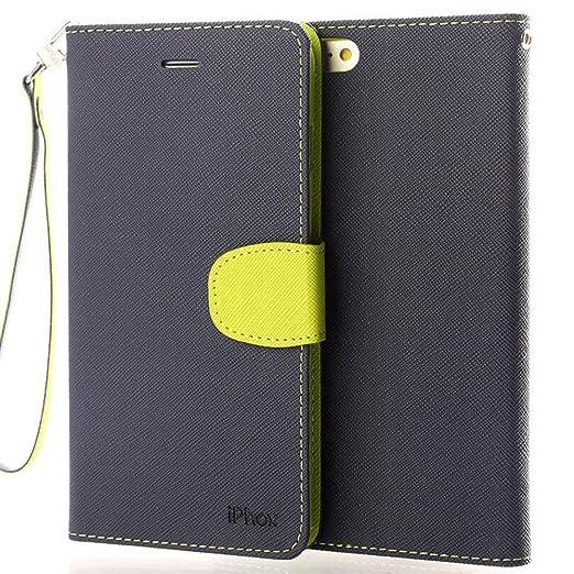 75 opinioni per IPHOX iPhone 6S/ 6 Custodia Litchi Skin Pu Portafoglio Protettiva in pelle per