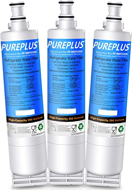8212491 4396547 46-9902 EDR5RXD1 4392857 4396163 Compatible 4396508 And 4396510 Refrigerator Water Filter Replacement WF285 46-9010 Also fits W10186668 2 Pack NLC240V By PURELINE