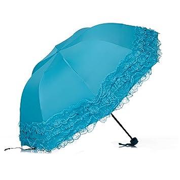 Susino princesa paraguas Manual abierto sturty Metal Negro Revestimiento compacto durabilidad paraguas 821013177t - SUSINO821013177TBL,