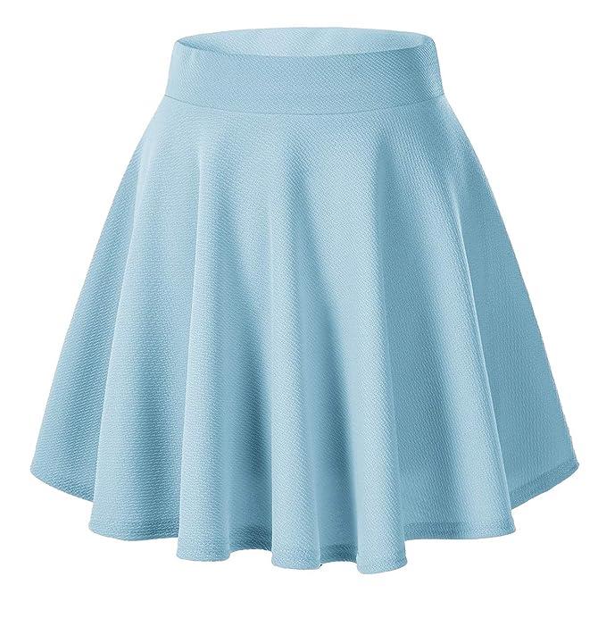6e15b45fd9 Urban GoCo Falda Mujer Elástica Plisada Básica Patinador Multifuncional  Corto Falda  Amazon.es  Ropa y accesorios
