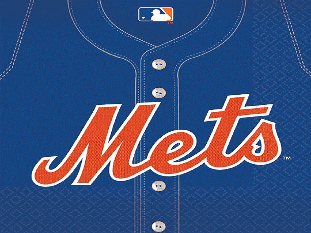 Amscan New York Mets Major League Baseball Collection Luncheon Napkins, 432 Ct.
