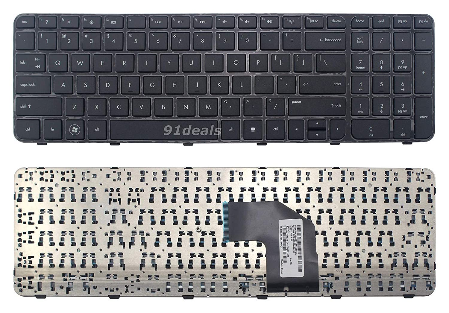 Original New For HP V132446AS2 AER36U00110 MP-11M83US-920 US keyboard with frame