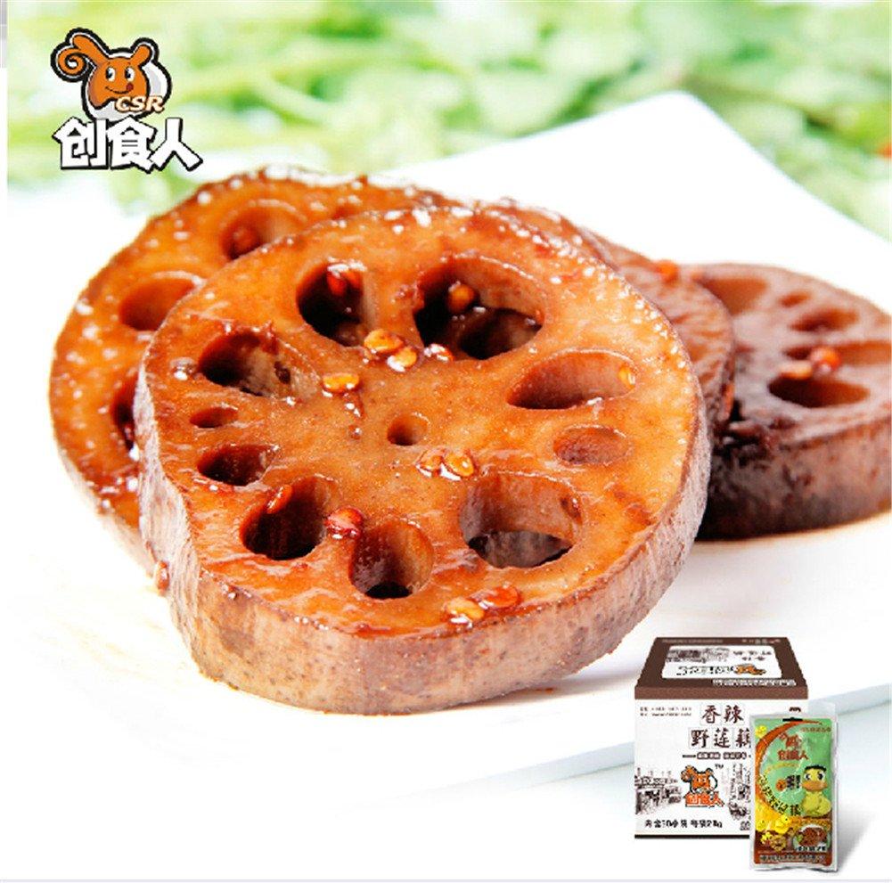 Qyz@ Chinese Hu Bei Special Leisure Snack Food: Spicy Halide Lotus Root(840g)
