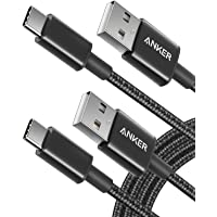 USB Type C Cable, Anker [2-Pack 6Ft] Premium Nylon USB-C to USB-A Fast Charging Type C Cable, for Samsung Galaxy S10 / S9 / S8 / Note 8, LG V20 / G5 / G6 and More(Black)