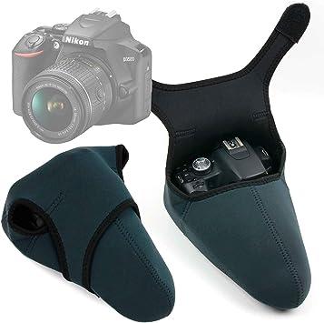 DURAGADGET Funda de Neopreno Reversible para Cámara Nikon D3500 ...