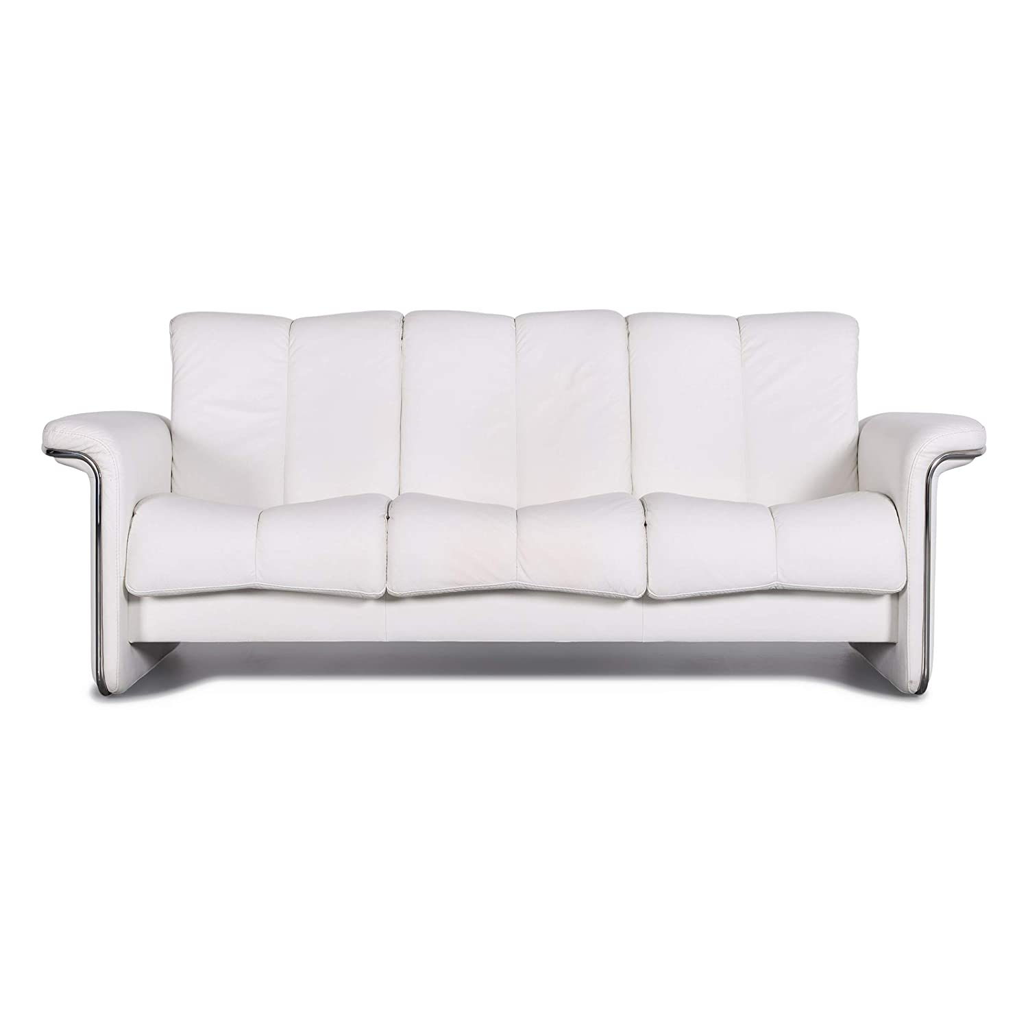Stressless Blues Designer Leather Sofa White Real Leather ...