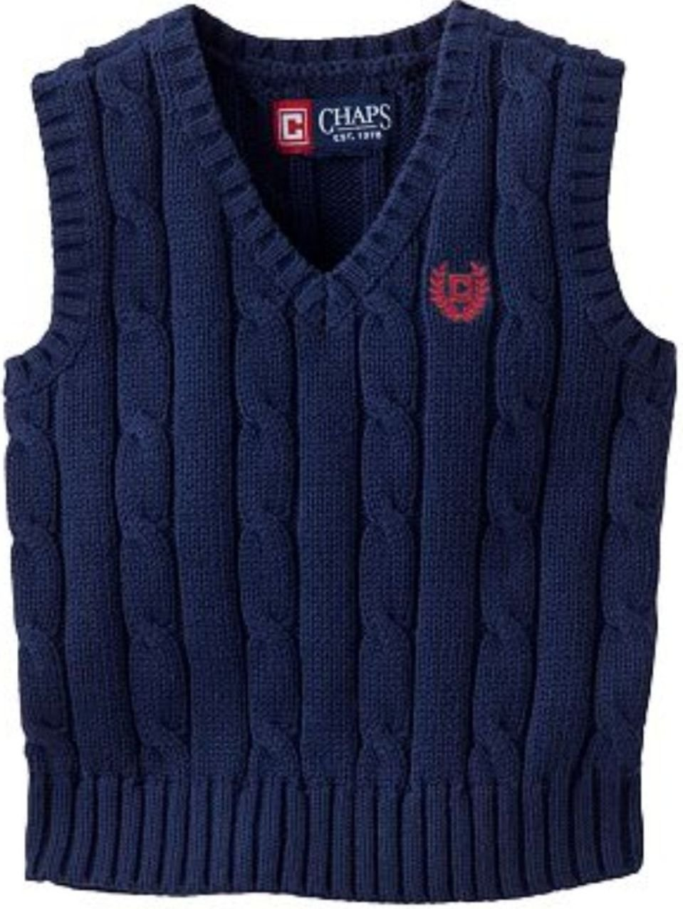 Amazon.com: Chaps Cable-knit Sweater Vest - Boys (XL (18-20)): Baby