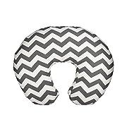 Org Store Premium Nursing Pillow Cover   Slipcover for Breastfeeding Pillows   Fits Boppy Pillows   Chevron Patterned (Gray)