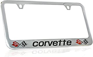 product image for Chevrolet Corvette C3 Chrome Plated Metal License Plate Frame Holder