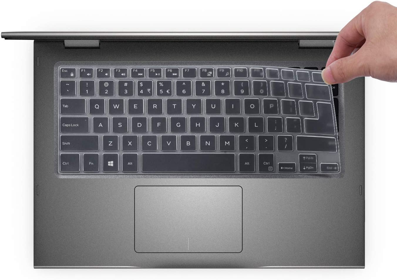 Keyboard Cover for 2020 2019 Dell Insprion 14 5000 2-in-1 5481 5482 5485 5488 5491 14 Inch, Dell Inspiron 14 5000 Accessories, Clear