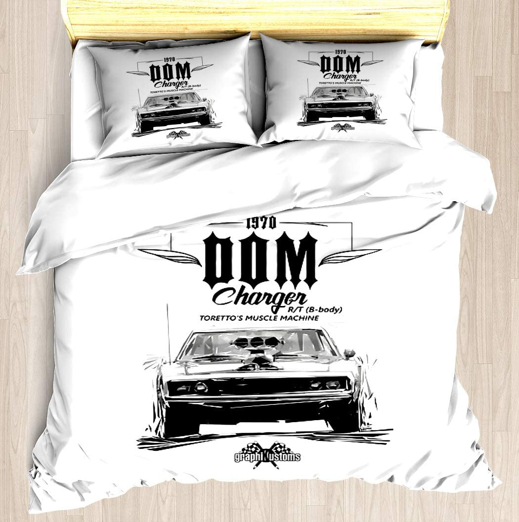 NTCBED Dom39;s Charger - Duvet Cover Set Soft Comforter Cover Pillowcase Bed Set Unique Printed Floral Pattern Design Duvet Covers Blanket Cover Queen/Full Size