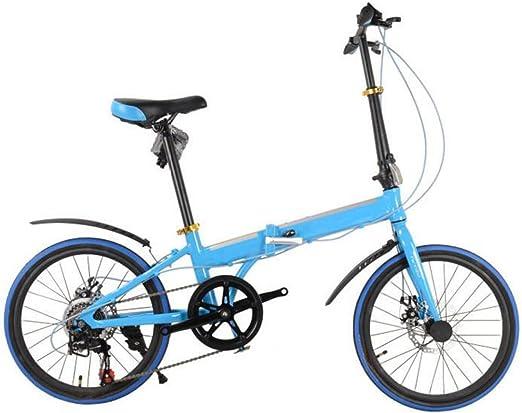 Coche Plegable 20 Pulgadas Bicicleta Plegable De Aluminio De 16 ...