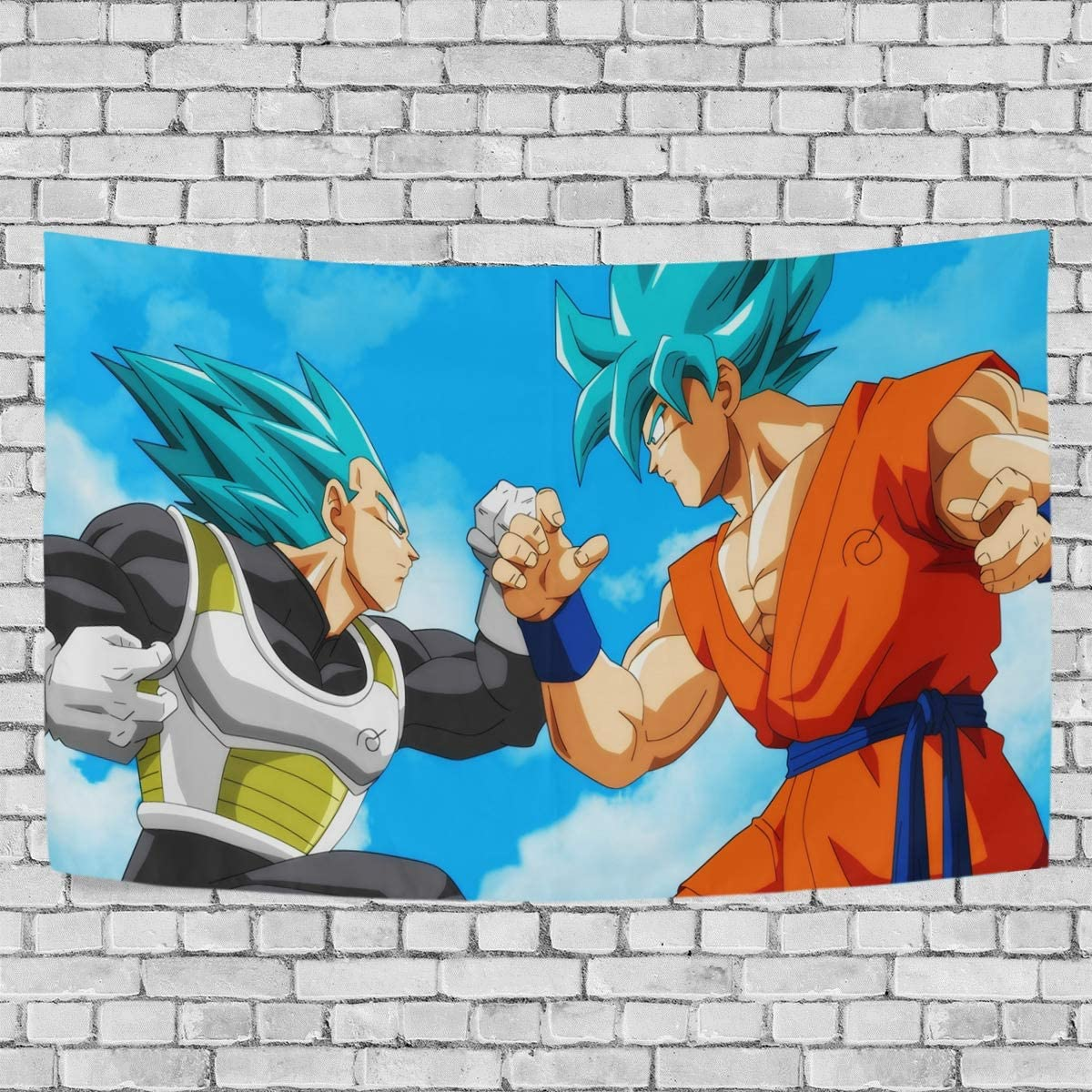 FASHIONDIY Dragon Ball Vegeta Goku Tapestry Wall Hanging Decoration for Apartment Home Art Wall Tapestry for Bedroom Living Room Dorm Fashion 90 x 60 inches