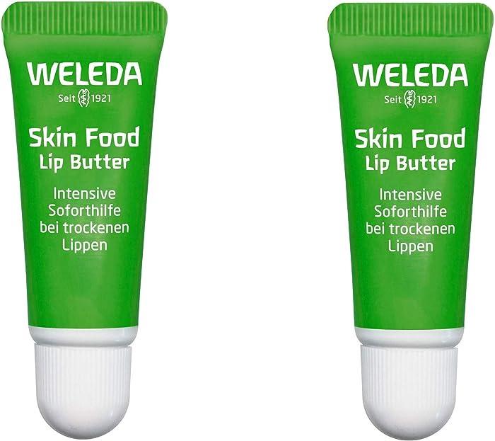 Weleda Naturals Skin Food Lip Butter (Pack of 2) with Sunflower Seed, Rosemary, Chamomile, Calendula, Limonene, Linalool and Geraniol, 0.27 fl. oz. Each