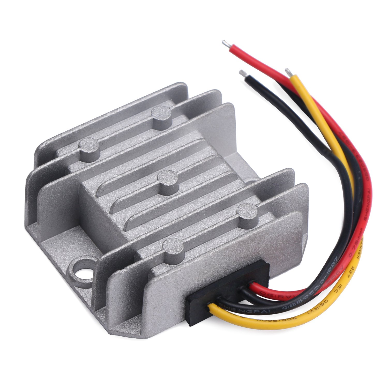 Transformers, DROK Waterproof Synchronous DC-DC Converter Buck 5.5-32V to 1-27V Voltage Regulator 24V to 12V to 5V 5A Adjustable VDC Solid Durable Power Supply Board